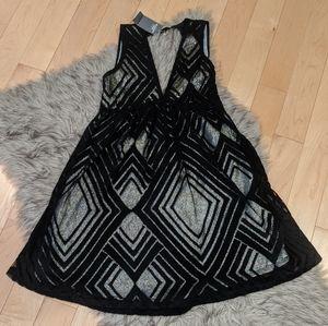 A&F NWT Black and Gold Dress